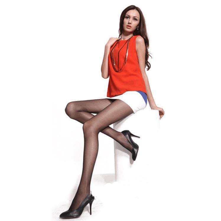 Fashion Show Woman Dresses Summer Ultra Sheer Transparent Ladies Sex Tube  Pantyhose 6203