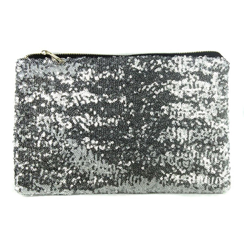 BUYEONLINE Party Evening Bag Dazzling Sequins Handbag Wallet Purse Glitter Spangle Clutch