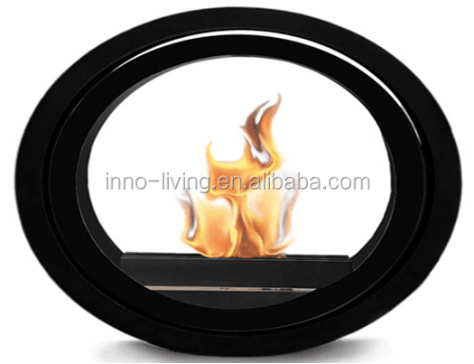 Round ethanol fireplace stainless ceiling mounted