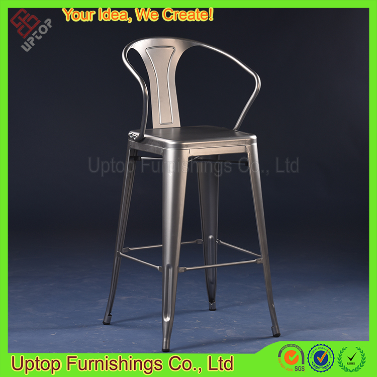 (SP-MC040) Wholesale industrial cafe house high metal bar chair