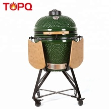 "TOPQ <span class=keywords><strong>21</strong></span> ""verde giapponese kamado <span class=keywords><strong>ceramica</strong></span> coperta <span class=keywords><strong>griglia</strong></span> a carbone"