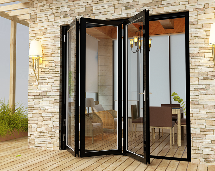 China supplier exterior accordion folding door low threshold
