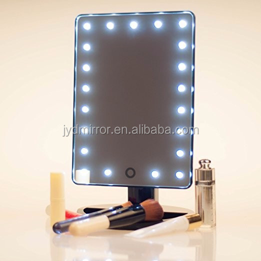 Rectangular Led Lighted Vanity Makeup Mirror With 10x