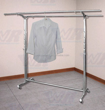 Double-bended Hang-rail 304 Stainless Steel Clothes Rack