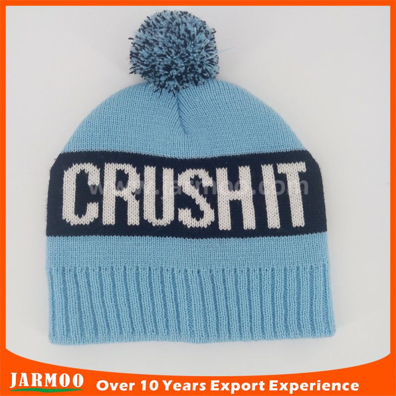 Free design warm 100% acrylic knitted beanie