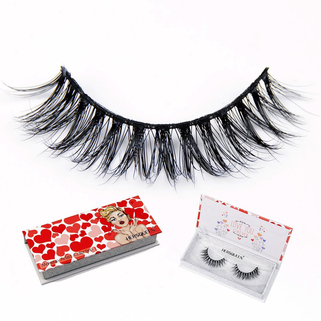8c7fce68562 3D Mink Lashes Strip For High End Makeup With Gift Box 100% Siberian Mink  Fur