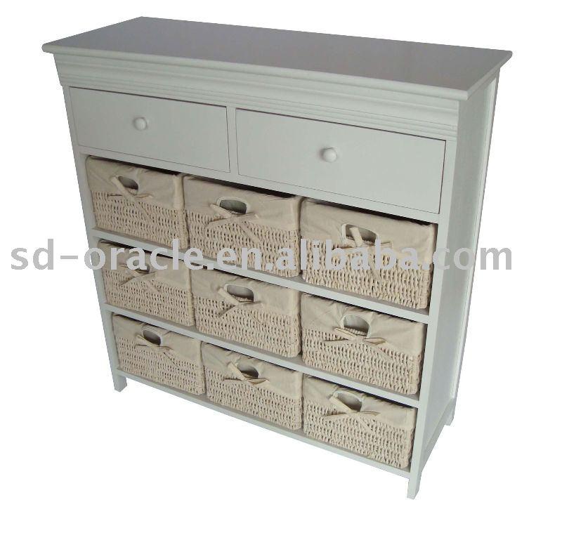 Mobili per la casa vimini mobili in rattan armadietto in legno con cesti di mais armadietto di - Mobili di vimini ...
