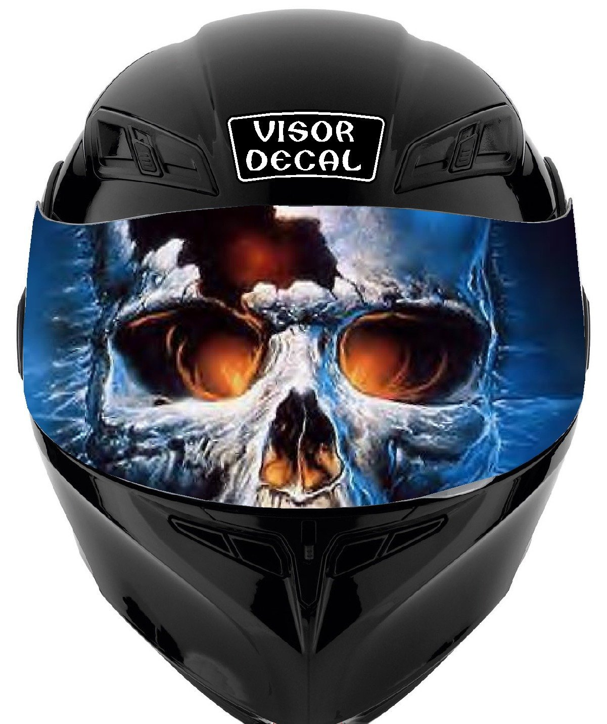 cd7666e5 V35 Skull VISOR TINT DECAL Graphic Sticker Helmet Fits: Icon Shoei Bell HJC  Oneal Scorpion