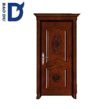2014 Modern Solid Wooden Exterior Door With Split Frame Solid Wooden