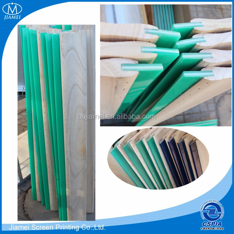 factory direct suppier hot sale wooden handle screen printing squeegee/screen printing squeegee with wooden handle