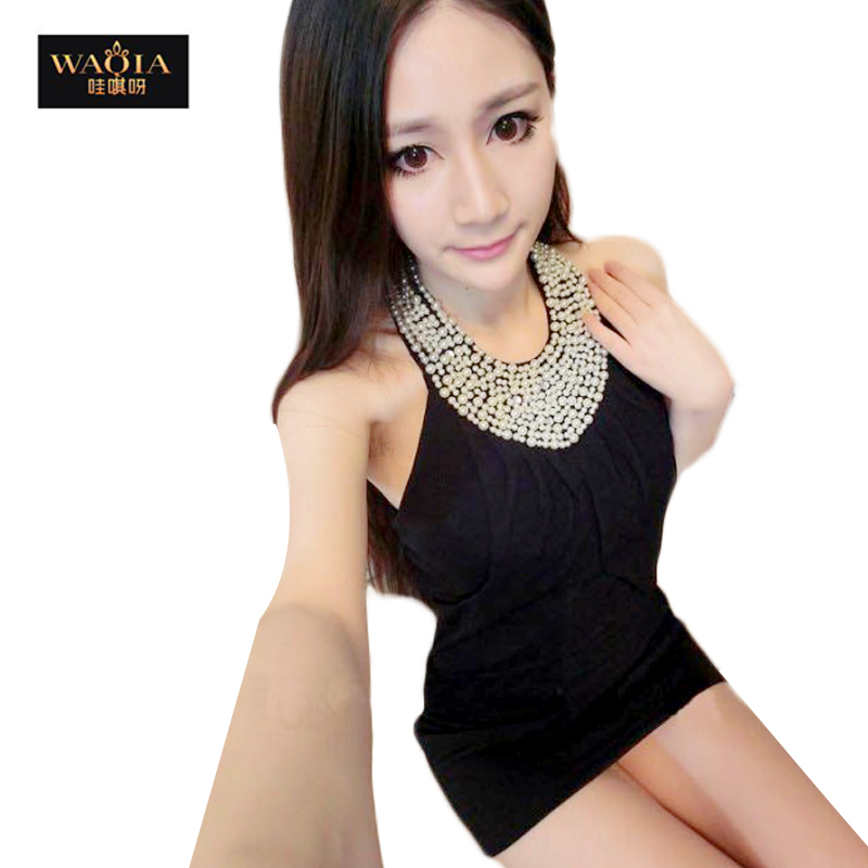 2015 new hot fashion women clothing cotton cute lace casual vintage career sheath sheath mini sexy dress Slim halter Halter