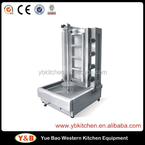 4 Burners Stainless Steel Automatic Gas Kebab Making Machine