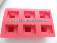 S024 London Olympic Game Supplier 100% Food Grade LFGB Standard Red 6 Cups Silicone Baking Mould