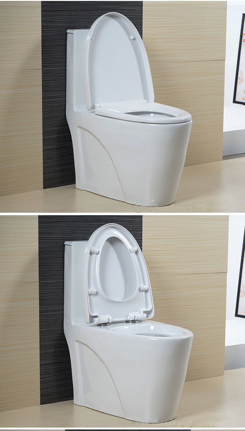 Modern Fashion Simplicity Ceramic Top Button Floor Mounted One Piece Toilet