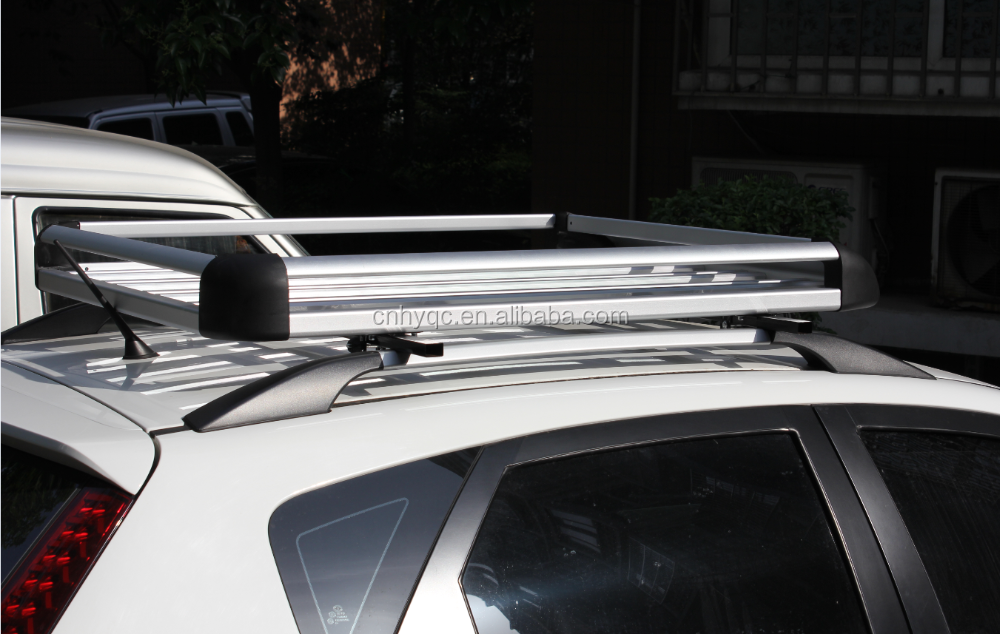 Aluminum Silver Roof Basket Cargo Carrier Luggage Rack Car Roof Top