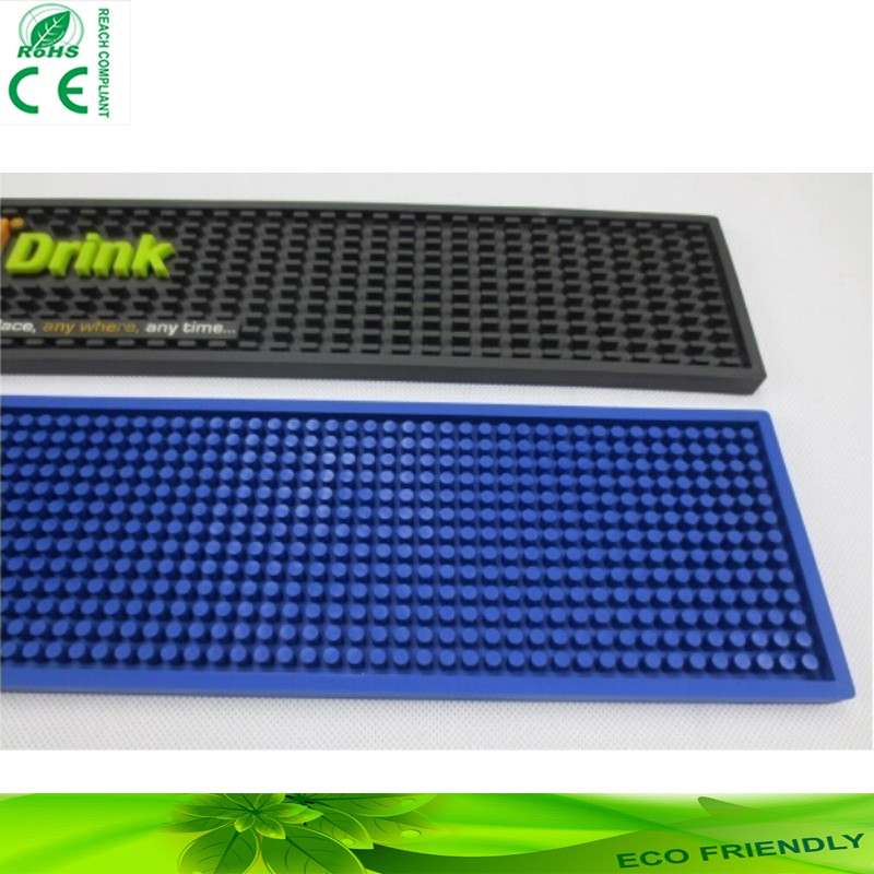 Soft PVC Rubber Bar Mat for Beer or Drink Promotion & OEM 3D Logo Custom Rubber Bar Mat, custom pvc bar mat,beer mat