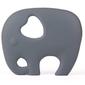 FDA&LFGB Approved Elephant Shaped Soft Plastic Baby Teether With Great Price
