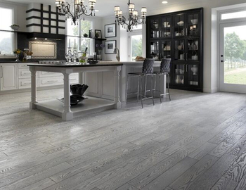 Grey Stained Oak Solid Wood Floors 5