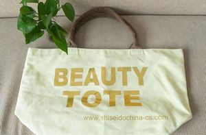 hot sale promotional pvc coated cotton shopper tote bags