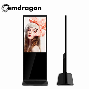 floor standing lcd advertising player Slim Totem 49 inch LCD digital signage 1080p hd advertising multimedia