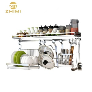 Manufacturer High Quality Kitchen Wall Mounted Metal Storage Cabinet Hanging Dish Rack