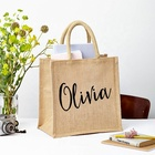 Promotion wedding use Custom OEM printing waterproof and reusable halloween shopping tote eco gift bag jute