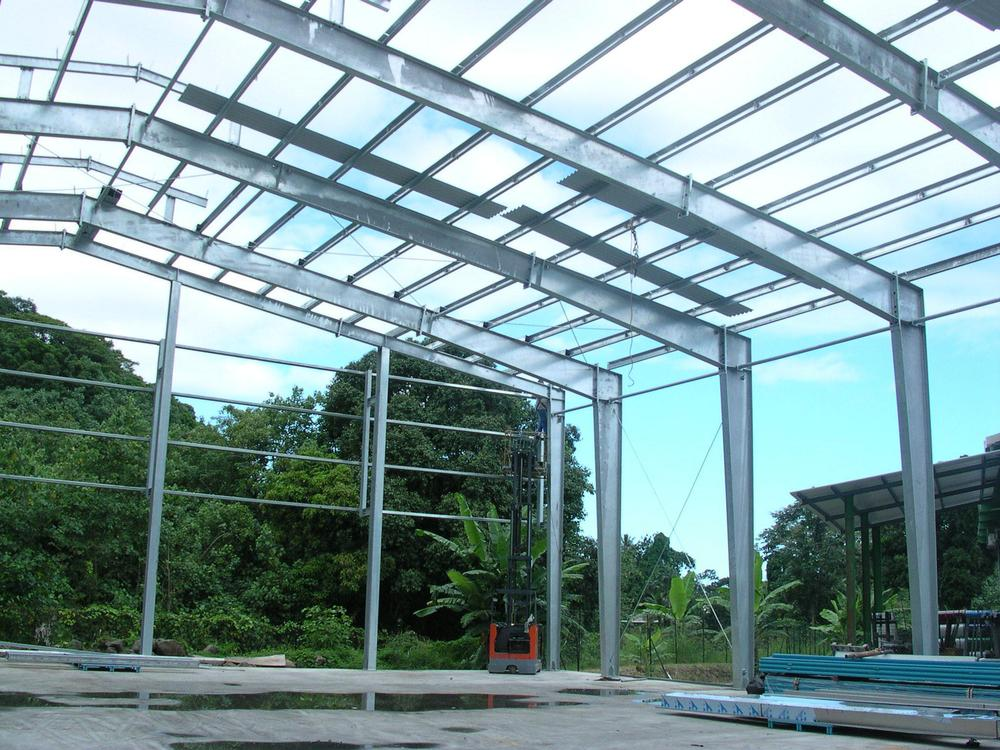 Steel Frame Construction : Philippine steel structure large span building support