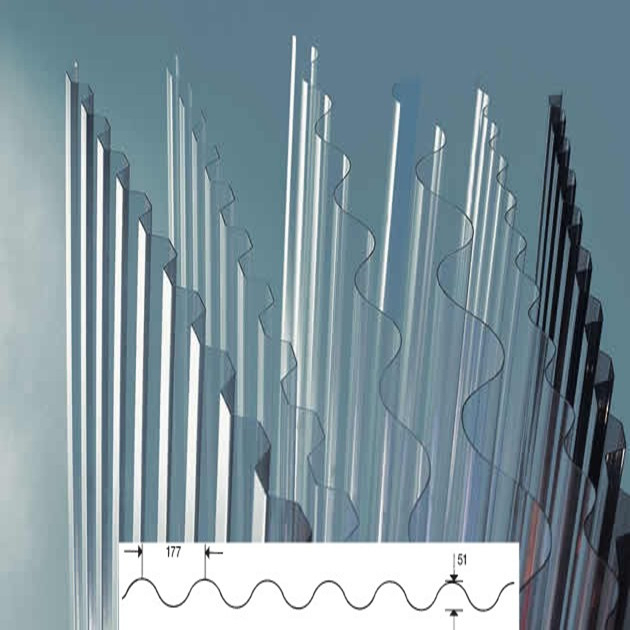 Material de cubierta transparente de pl stico de - Techos de plastico ...