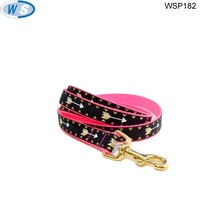 China manufacturer pp metal rainbow colorful dog leash with good quality