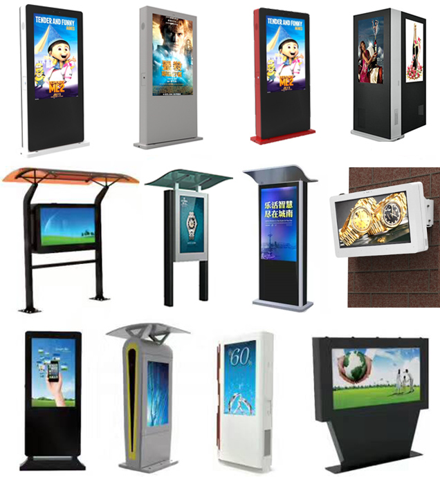 Outdoor Lcd Advertising Kiosks Display Floor Standing Digital Signage