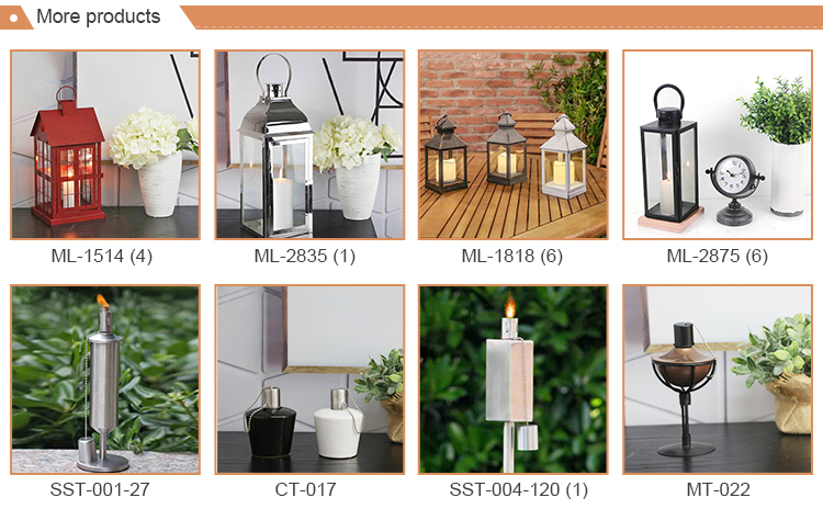 Factory direct sell garden decoration ceramic oil lamp wick candle holder lanterns for sale