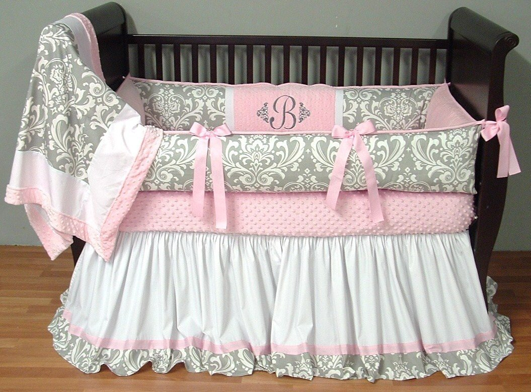 Modpeapod Brooklyn Silver Breathable Baby Bedding Set