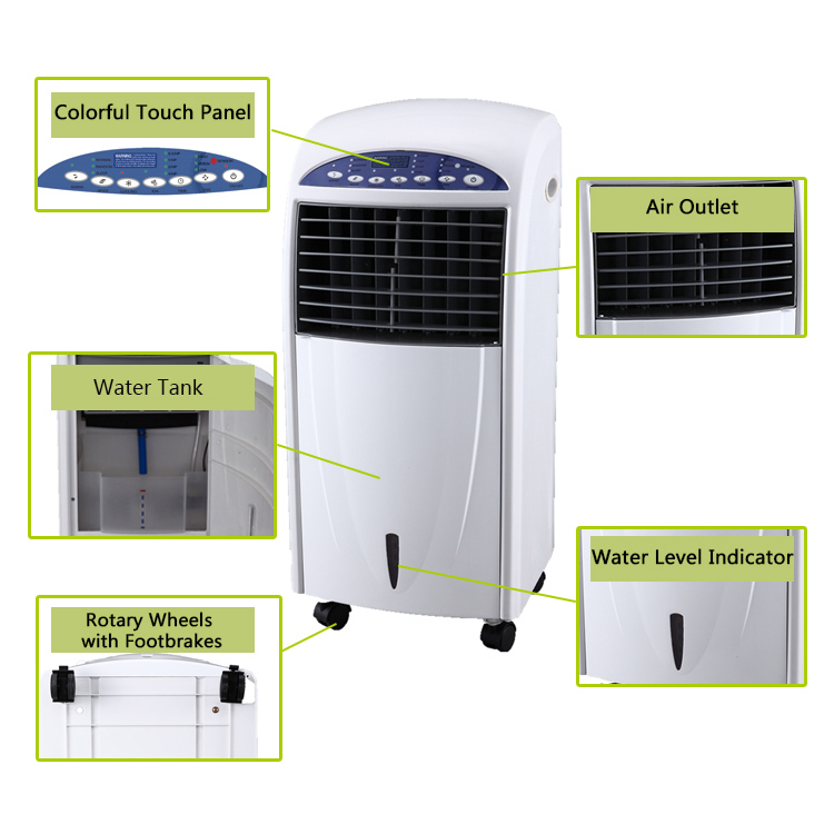 2019 aria condizionata split mini in piedi portatile ac condizionatore d'aria mobile di acqua portatile di aria evaporativo dispositivo di raffreddamento del ventilatore per camera