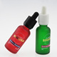 silk screen printing 30ml frosted green red blue glass dropper cosmetic serum bottle 1oz for e vape liquor oil packaging