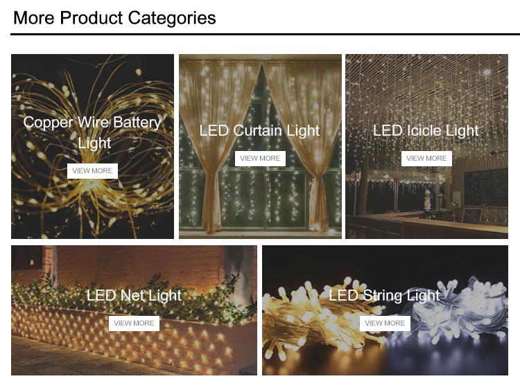 ตกแต่งกลางแจ้ง/ในร่ม LED String Fairy Christmas สุทธิ