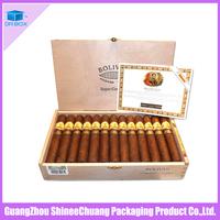 Wholesale handmade wood packaging cigar box/humidor/cigar case