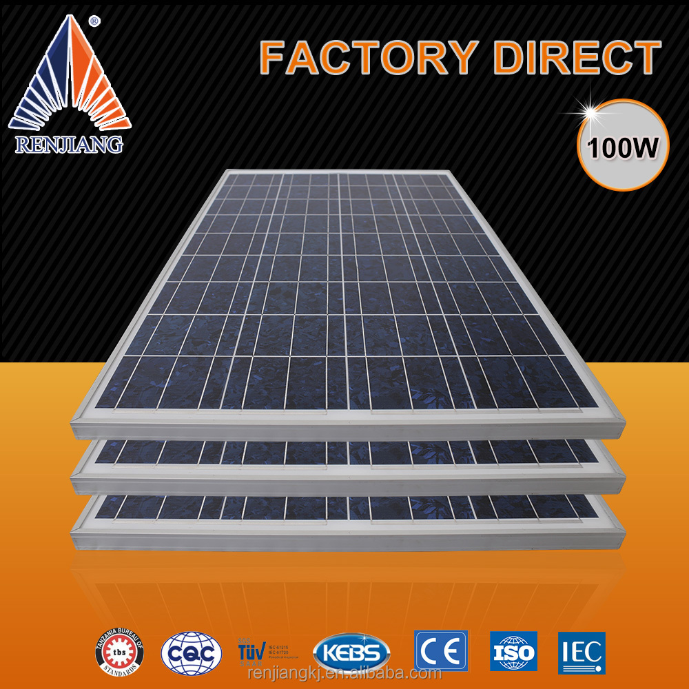 5.85 Short circuit current Isc 18v solar panel 100w 24v