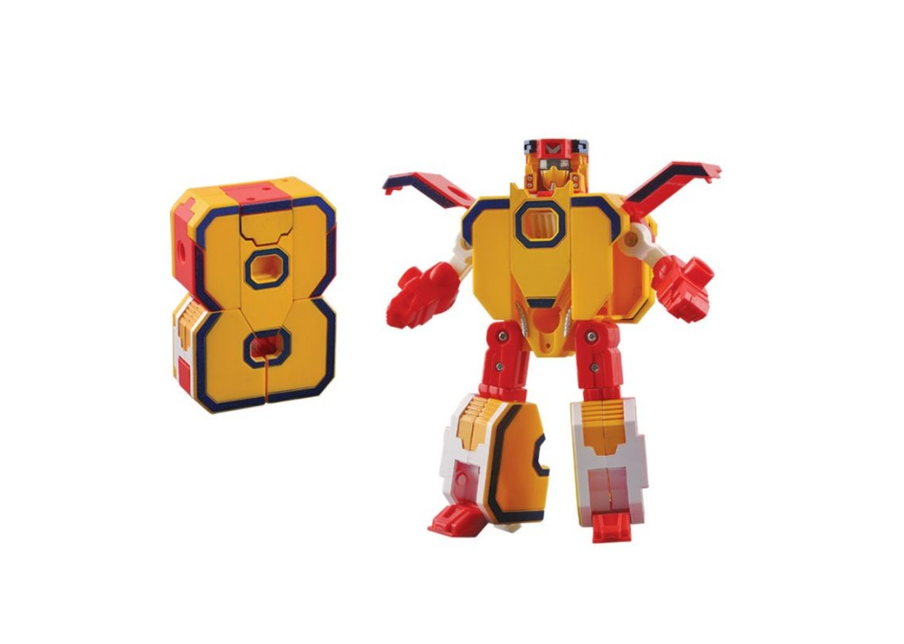 Transformable Number for Children 2-6 Years Old Child Robot Toy Tank