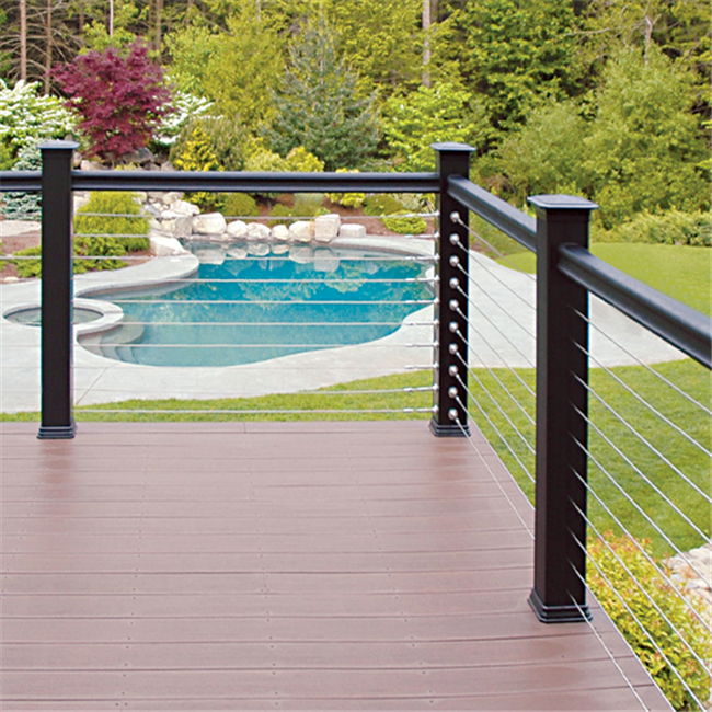 Welded Mesh Decking Aluminum Deck Railing Stainless Cable ...
