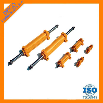 Double acting clevis rod ends hydraulic cylinder