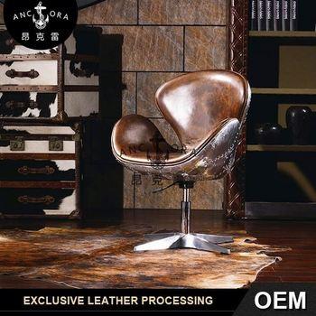 aluminium spitfire vintage leather swan chair k620a buy vintage