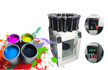 paint mixing and tinting machine, paint color dispenser with gyroscopic mixer in one