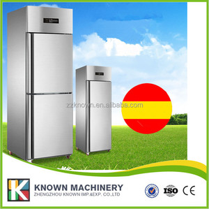 stainless steel restaurant kitchen 2 door deep freezer