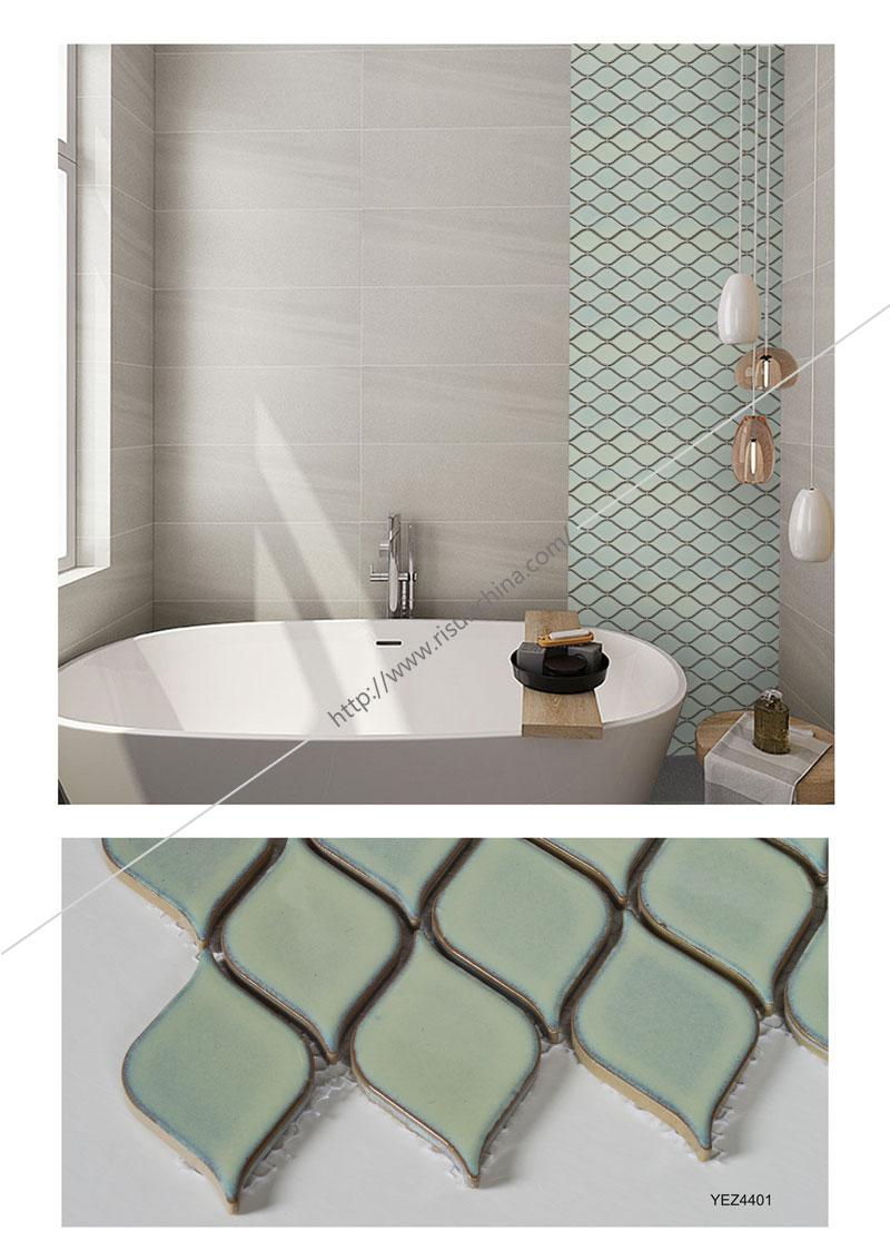 China Factory Supply Leaf Shape Glazed Mosaic Tile For Kitchen Backsplash Buy Leaf Mosaic Leaf