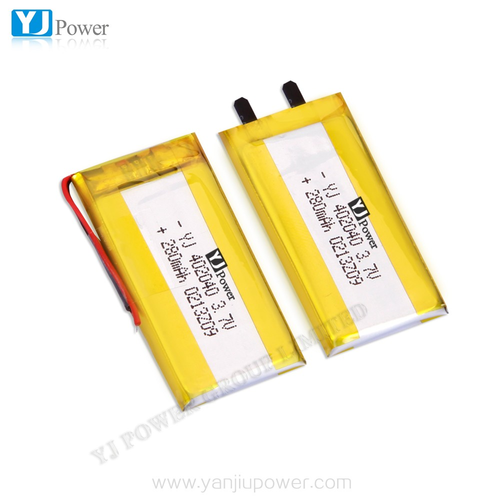ODM/OEM li-ion battery YJ402040/280mah 3.7v lipo rechargeable battery for PDA device