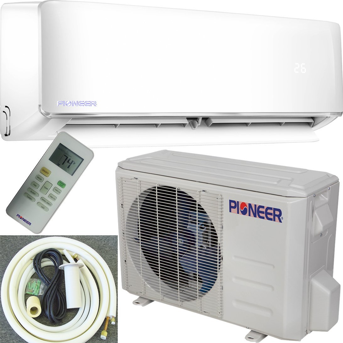 Pioneer Air Conditioner WYS012AMFI22RL Ductless Inverter++ Mini-Split Heat Pump Complete System