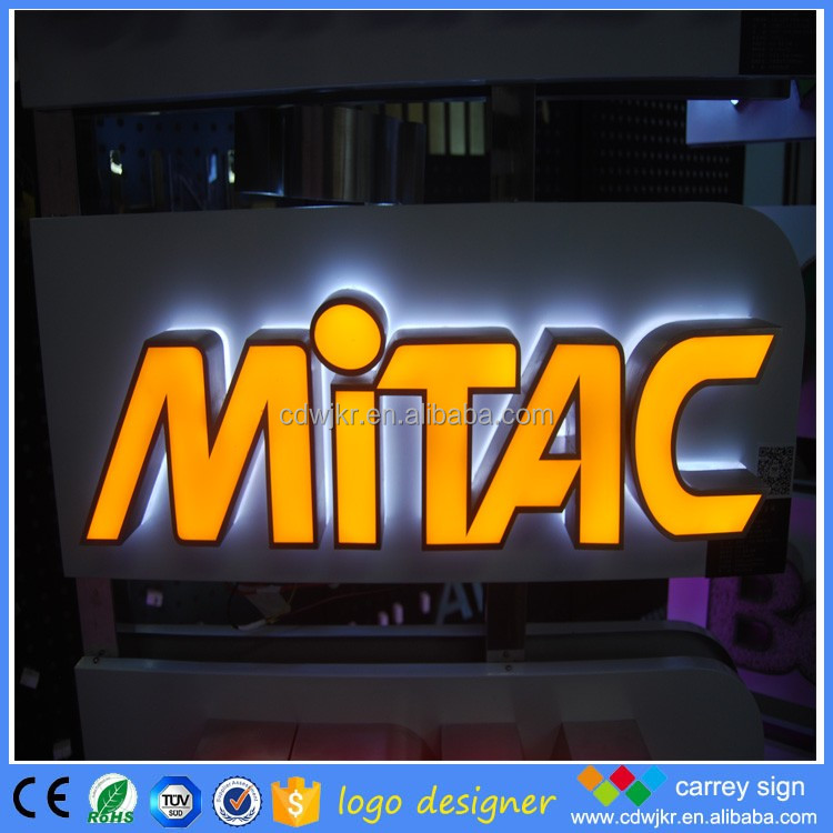 Outdoor front and backlit channel letters wholesale led store front signs