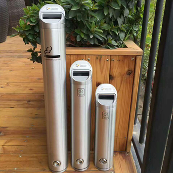 Best Seller Outdoor Public Stand Up Ashtray Bin Stainless