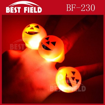 Halloween Soft Flicker fashion flashing led Jelly ring
