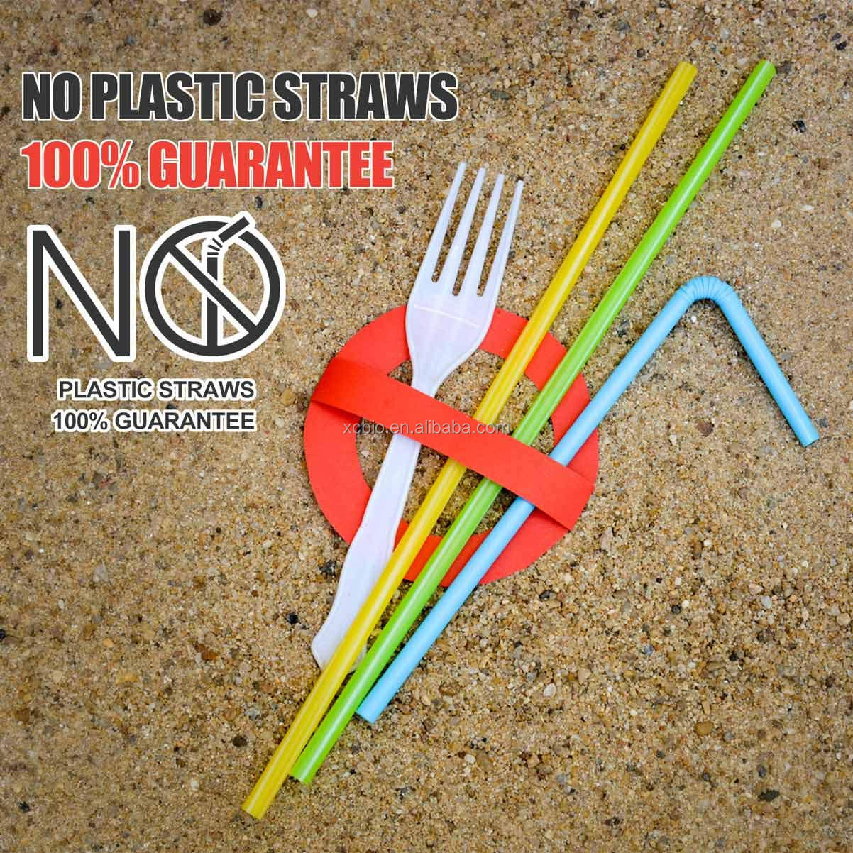 Plasticless Biodégradable Pailles Souples-Une Fantastique Alternative Écologique 100% À Base de plantes Compostable Pailles